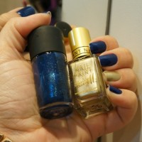 Unhas da Semana: Marinho e Dourado