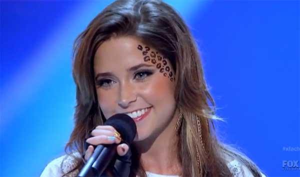 """No começo do programa, ainda com o cabelo castanho!! A marca registrada era o  """"leopard print"""" no rosto! Detalhe, ela pintava o rosto todos os dias!! Eu achava o máximo!!"""
