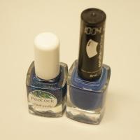 Unhas da Semana: Azul e Glitter!